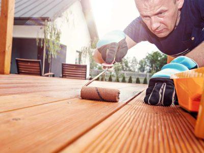 Terrassenboden streichen