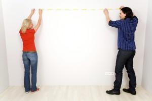 Wand ausmessen